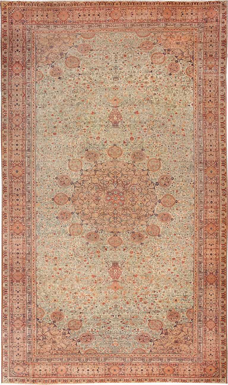 Antique Persian Haji Jalili Tabriz Rug 46806 Nazmiyal