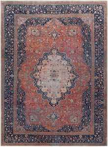 Antique Persian Mohtashem Kashan Rug 46248 Nazmiyal