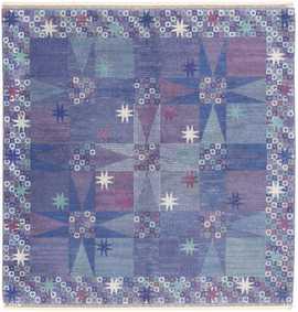 Vintage Scandinavian Carpet by Barboro Nilsson 46847 Large Image