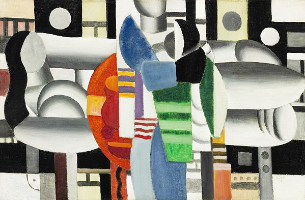 Madonna's Charity Painting - Trois Femmes a la Table Rouge by Fernand Leger Nazmiyal