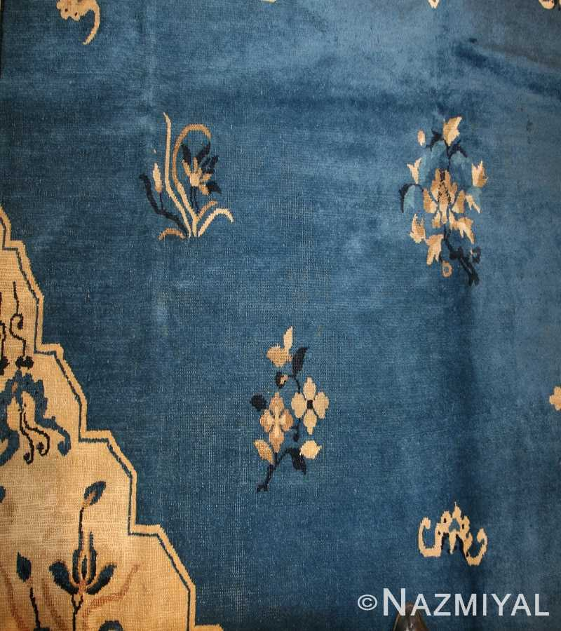 Antique Chinese Rug 46820 Blue Nazmiyal