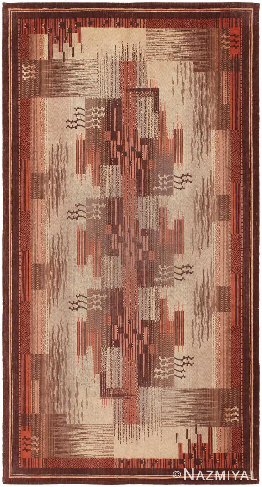 Antique French Art Deco Textile 46878 Nazmiyal