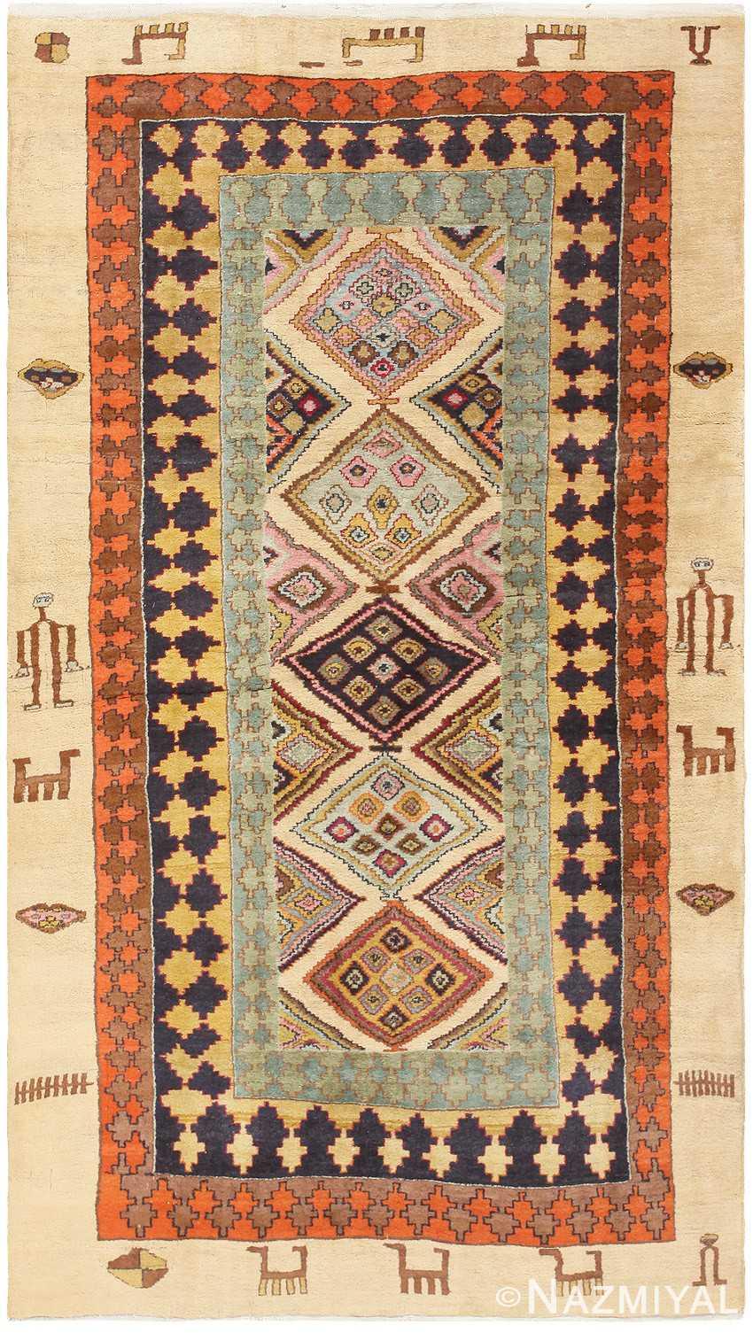 Antique Indian Agra Carpet 46868 Nazmiyal
