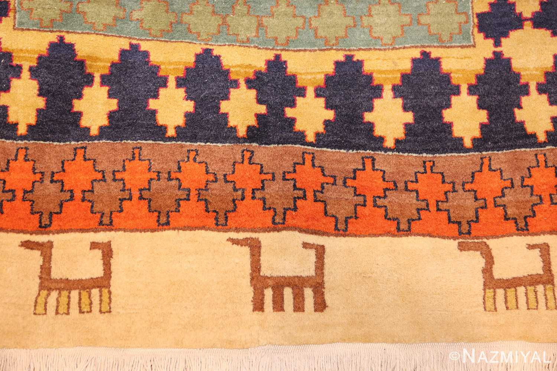 antique indian agra rug 46868 dogs Nazmiyal