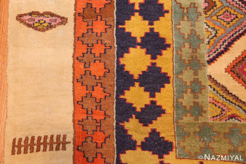 antique indian agra rug 46868 fence Nazmiyal