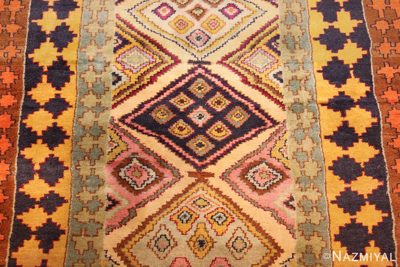 antique indian agra rug 46868 field Nazmiyal