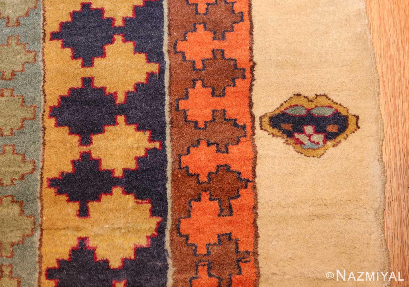 antique indian agra rug 46868 heart Nazmiyal