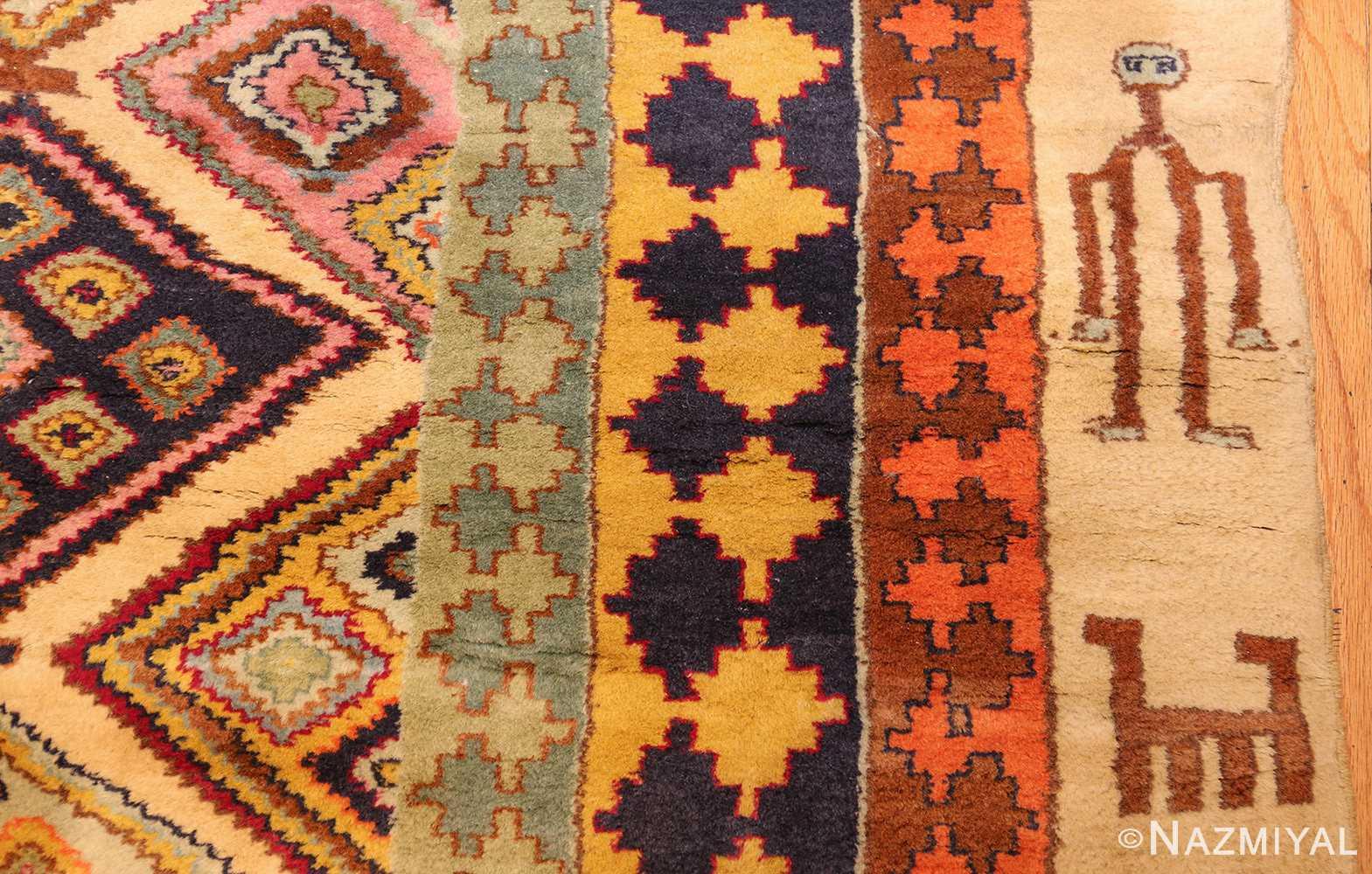 antique indian agra rug 46868 man Nazmiyal