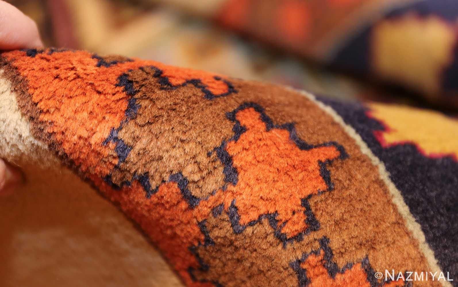 antique indian agra rug 46868 pile Nazmiyal