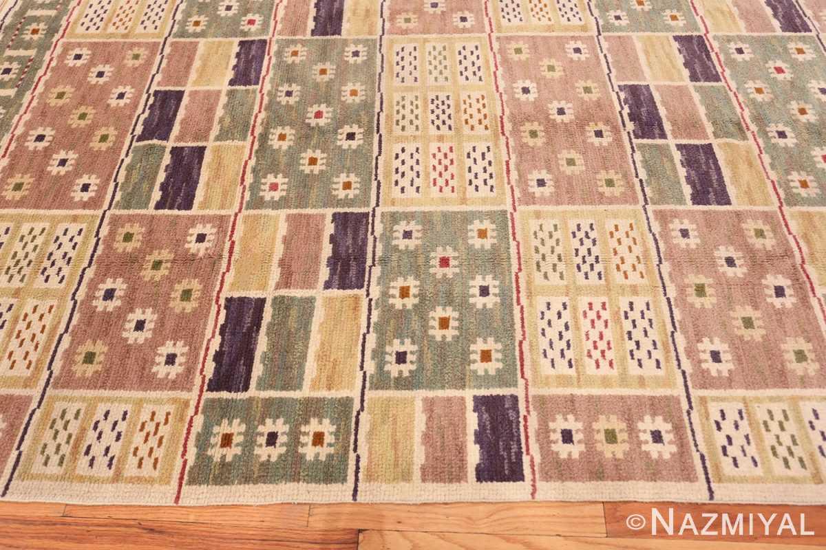 Border Vintage pile Scandinavian rug by Marta Maas 46896 by Nazmiyal