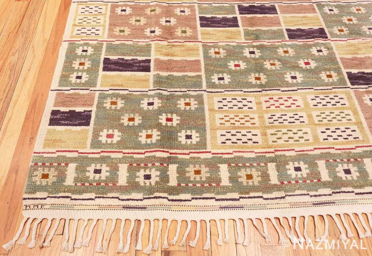 Corner Vintage pile Scandinavian rug by Marta Maas 46896 by Nazmiyal