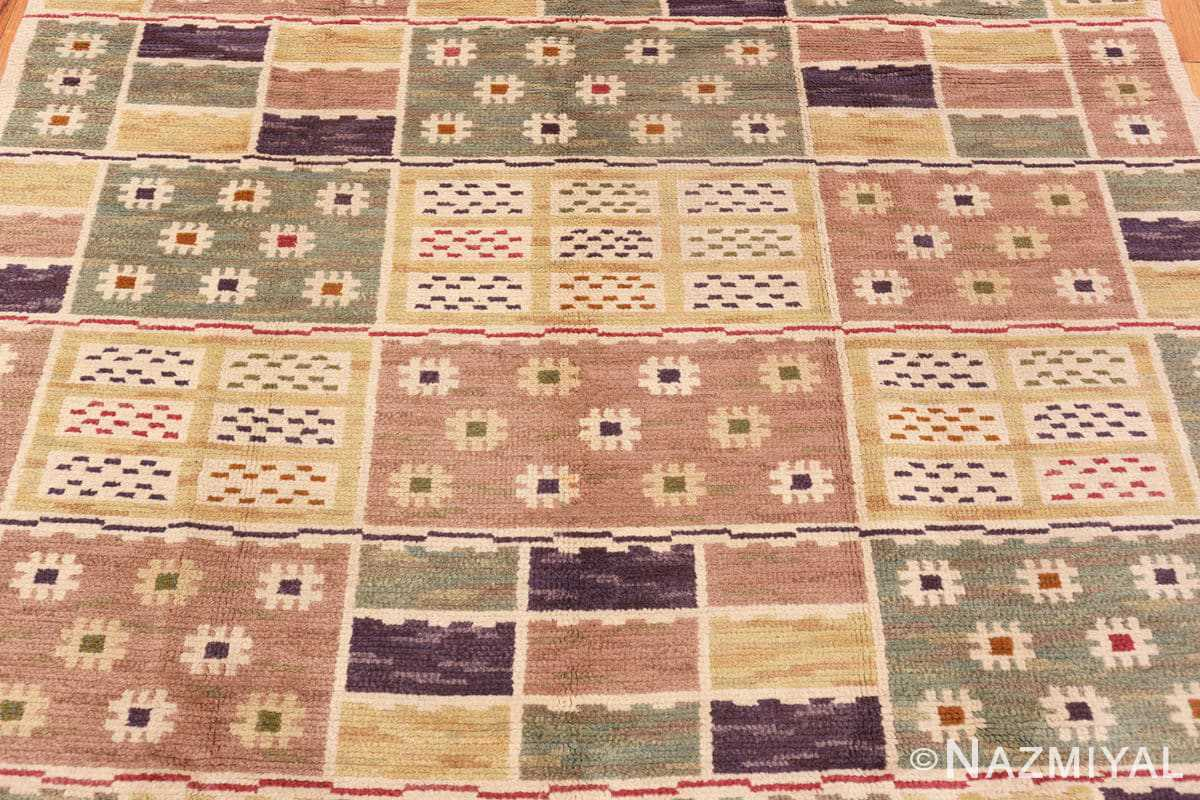 Detail Vintage pile Scandinavian rug by Marta Maas 46896 Nazmiyal