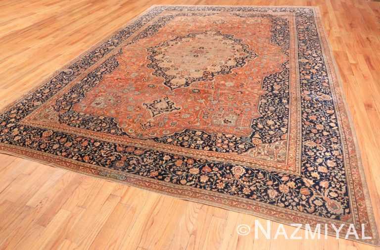 Full Antique Persian Mohtashem Kashan rug 46248 by Nazmiyal