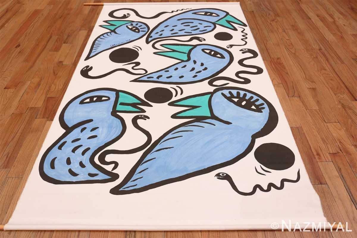 Full Vintage Swedish tapestry rug 46828 by Nazmiyal