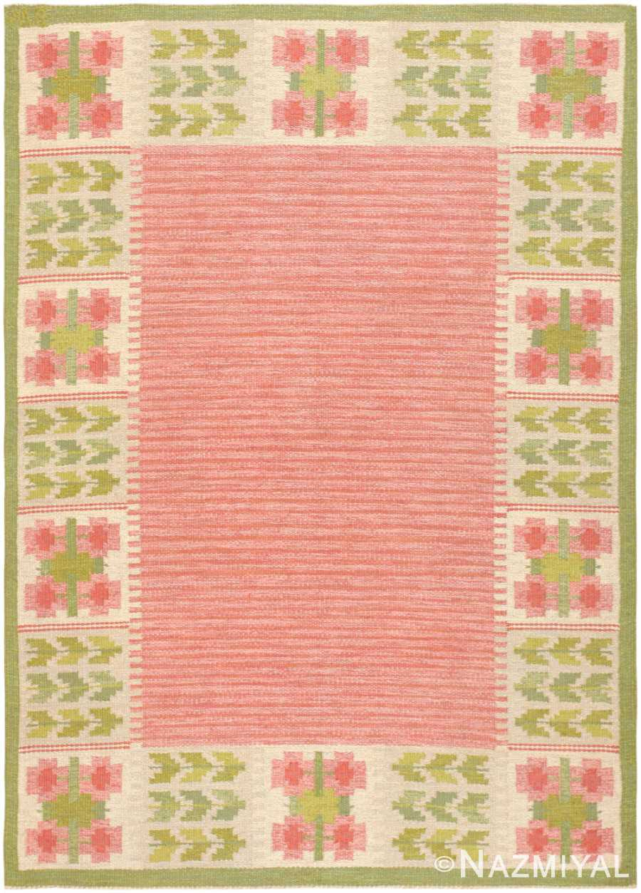 Swedish Kilim 46861 Nazmiyal