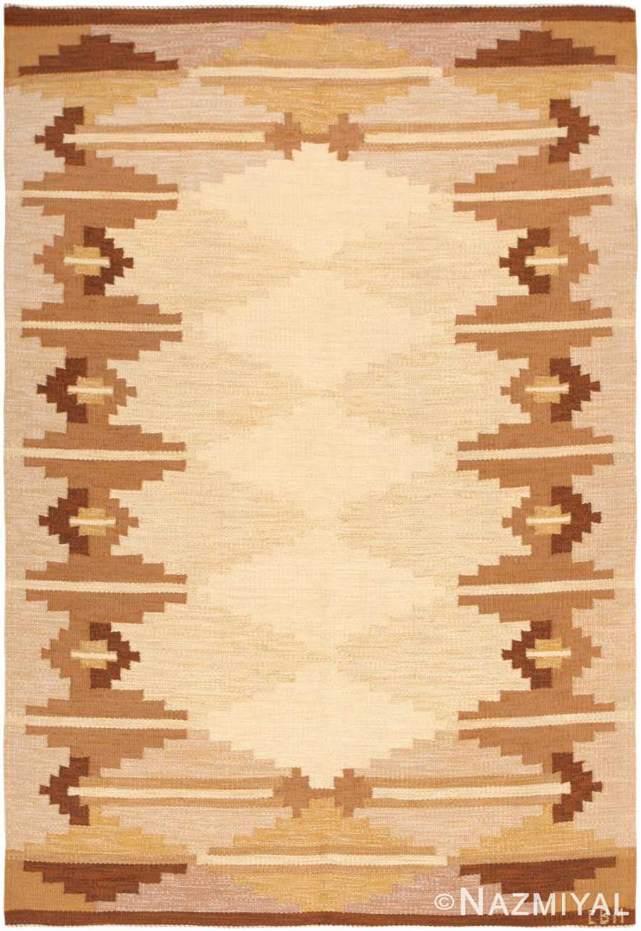 Swedish Kilim 46864 Nazmiyal