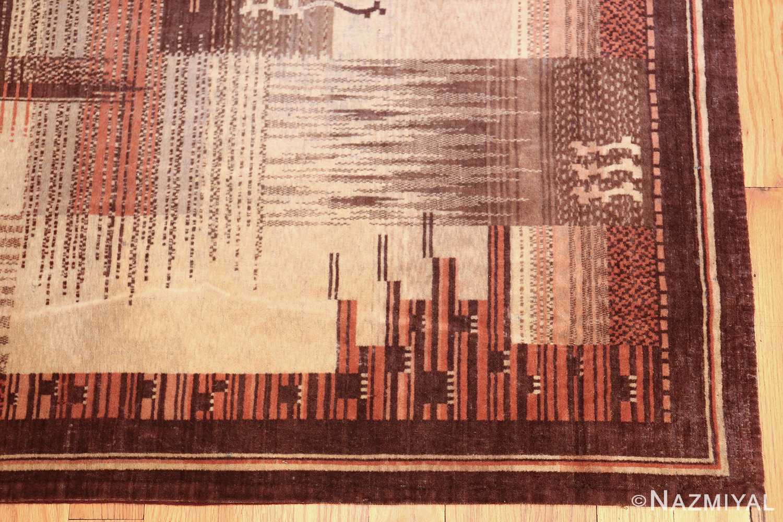 vintage french art deco carpet 46878 corner Nazmiyal