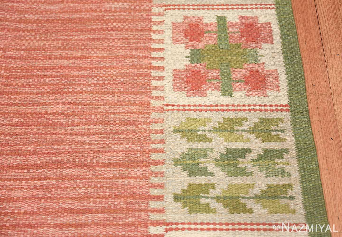 vintage scandinavian flat woven rug 46861 border Nazmiyal
