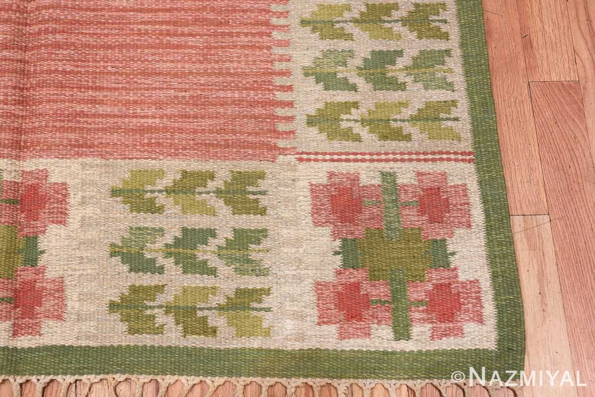 vintage scandinavian flat woven rug 46861 corner Nazmiyal