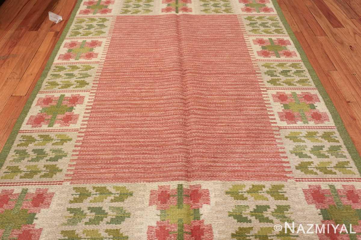 vintage scandinavian flat woven rug 46861 field Nazmiyal