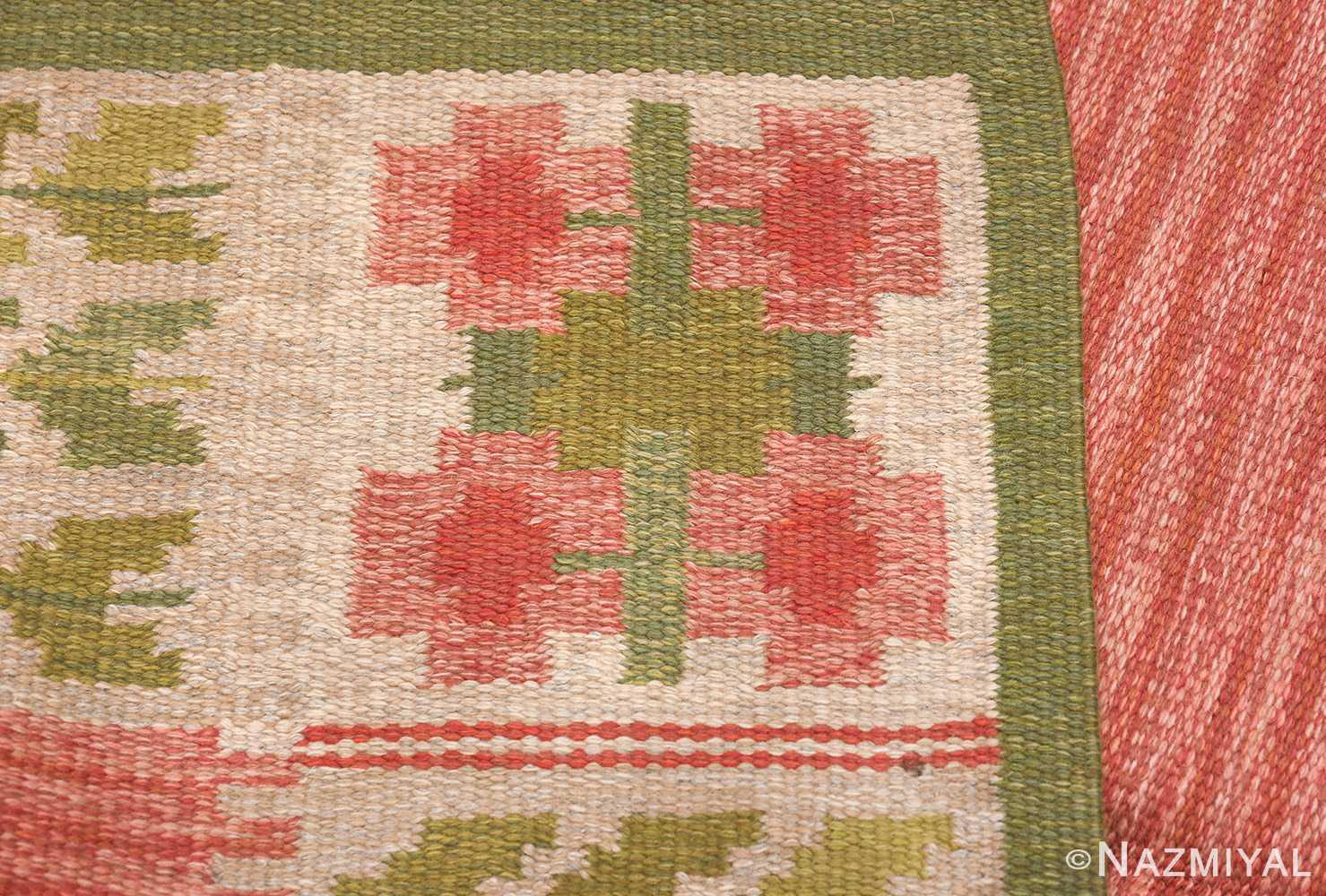 vintage scandinavian flat woven rug 46861 knots Nazmiyal