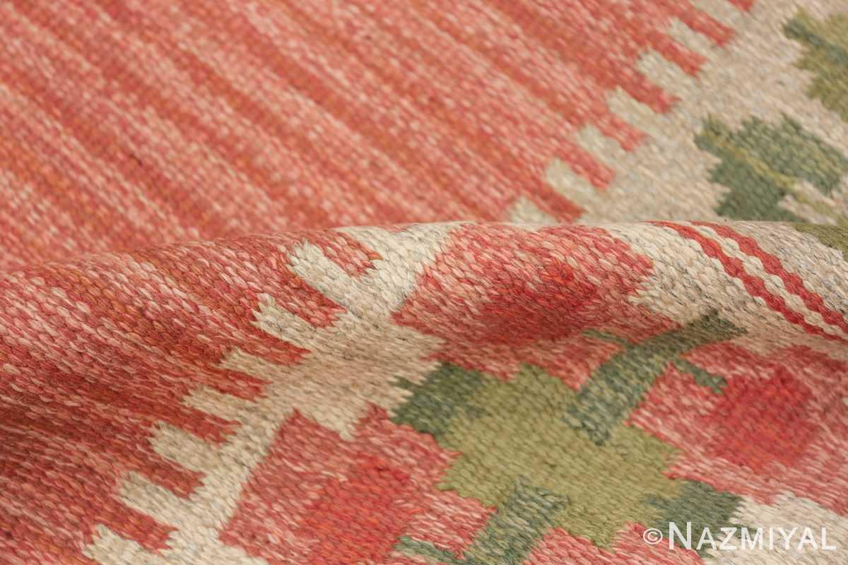 vintage scandinavian flat woven rug 46861 pile Nazmiyal
