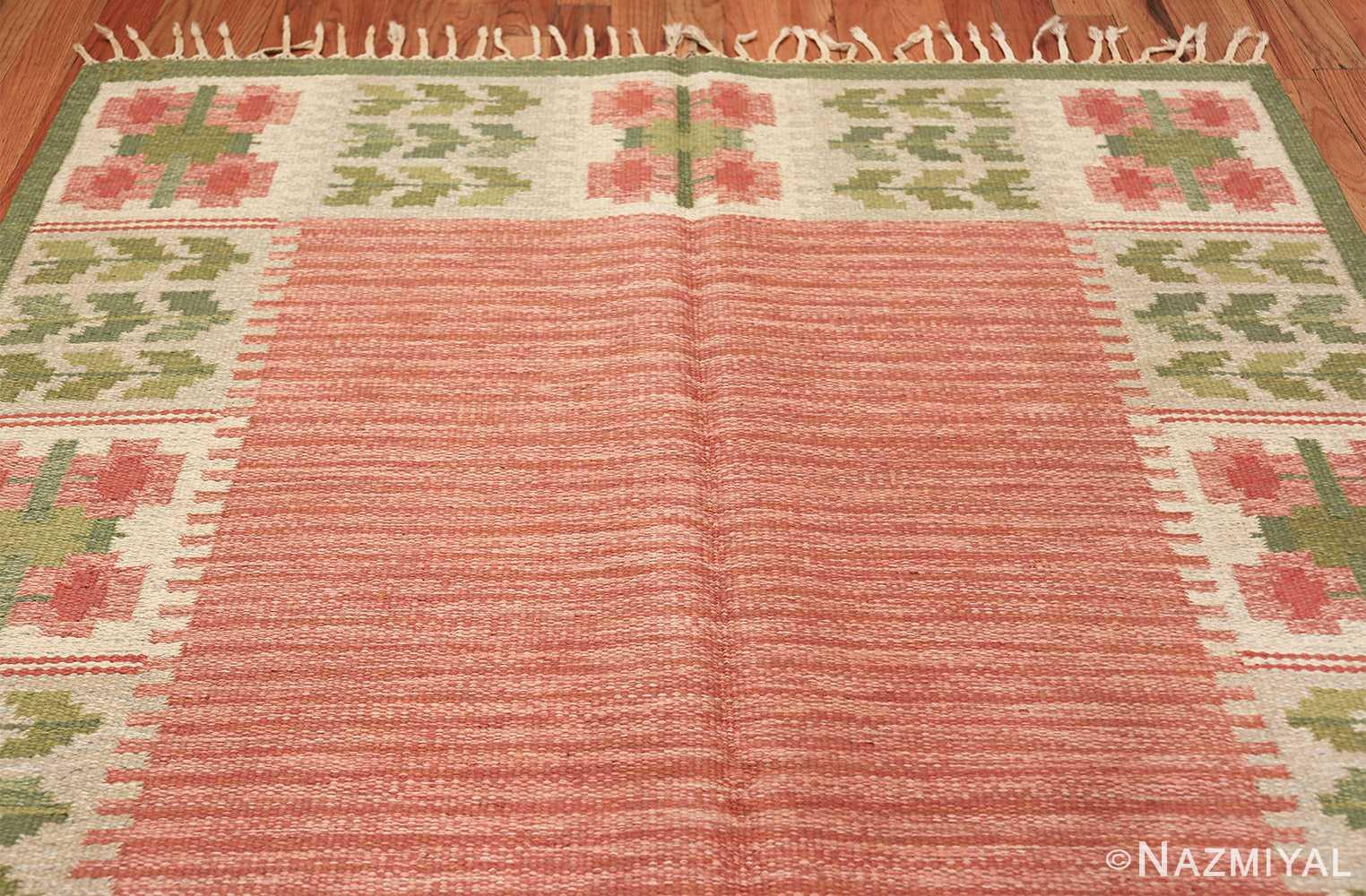 vintage scandinavian flat woven rug 46861 top Nazmiyal