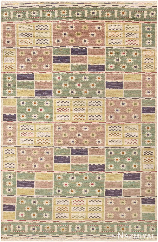 Vintage Scandinavian Pile Carpet By Marta Maas Fjetterstrom 46896 by Nazmiyal