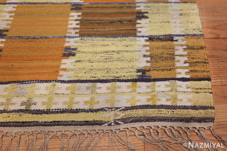 Vintage Scandinavian Rug by Wanda Krakow 46858 Corner Squares Nazmiyal
