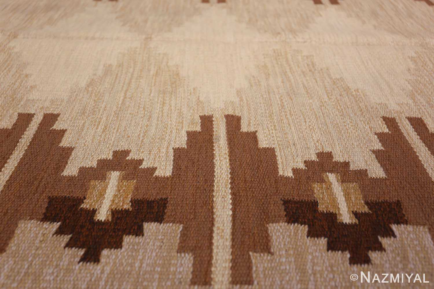 vintage swedish kilim 46864 diamond Nazmiyan