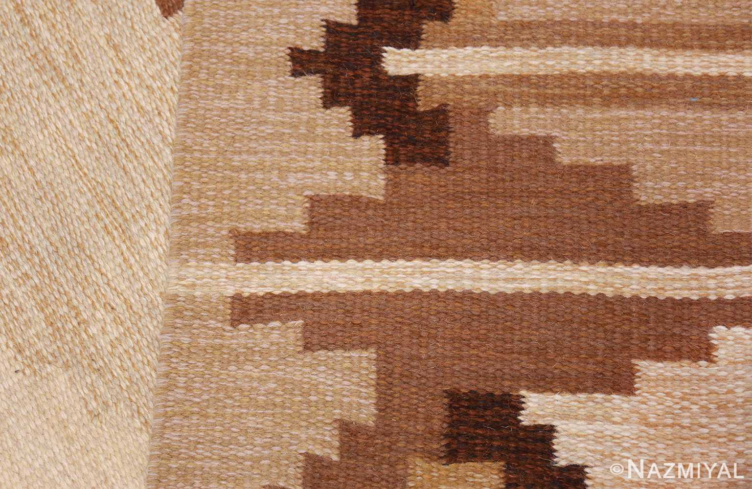 vintage swedish kilim 46864 knots Nazmiyal
