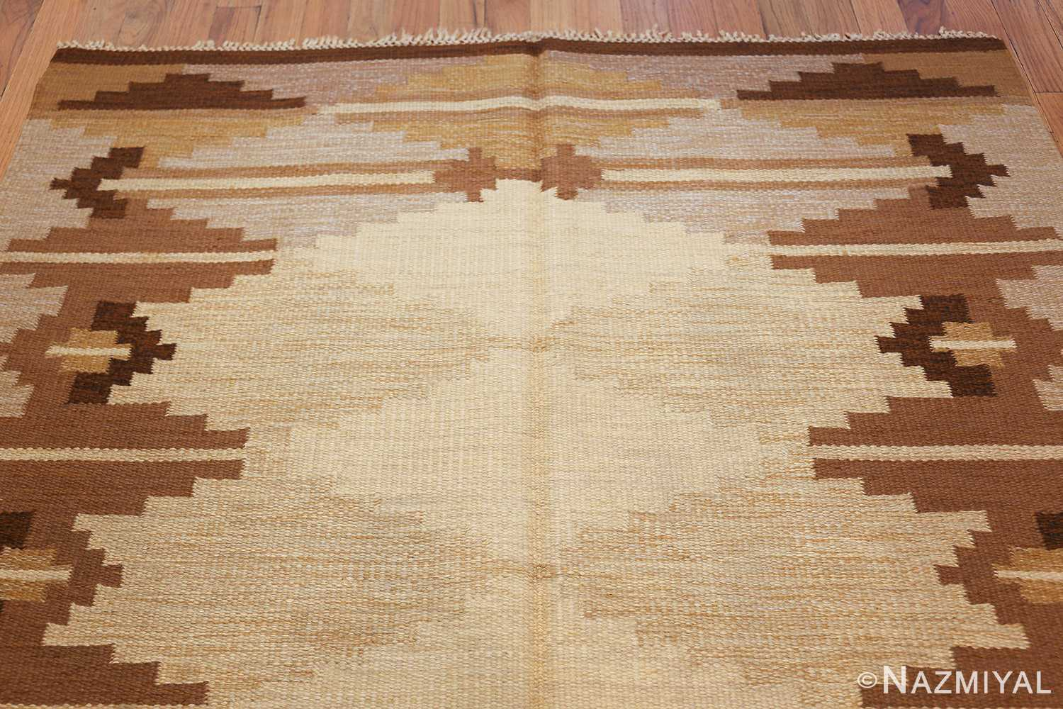 vintage swedish kilim 46864 top Nazmiyal
