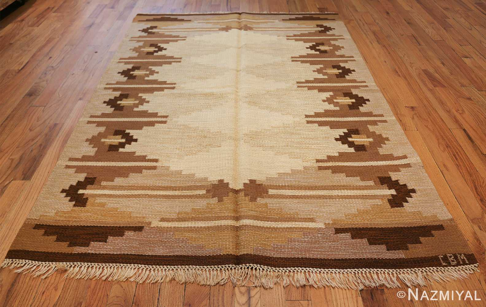vintage swedish kilim 46864 whole Namziyal