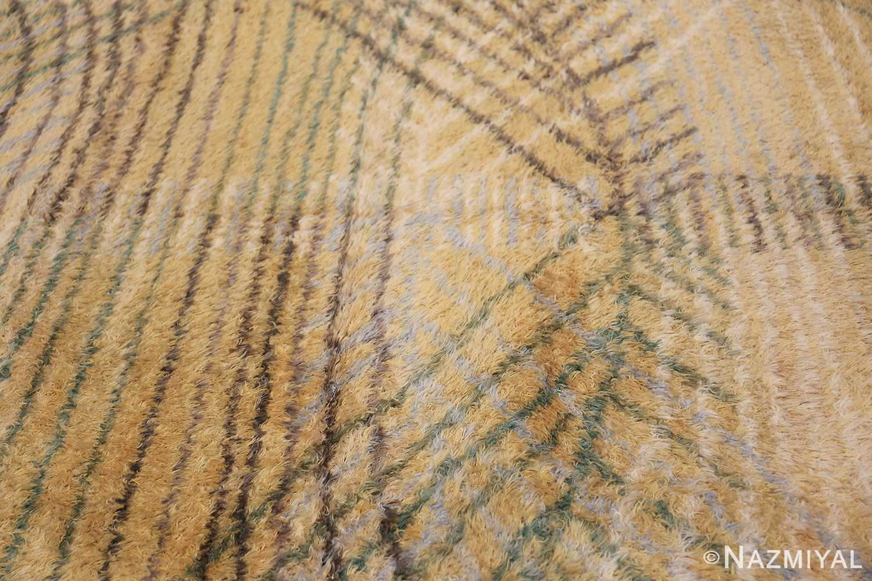 Vintage Swedish Rya Rug Marta Maas Fjatterstorm 46888 Curves Straight Lines Nazmiyal