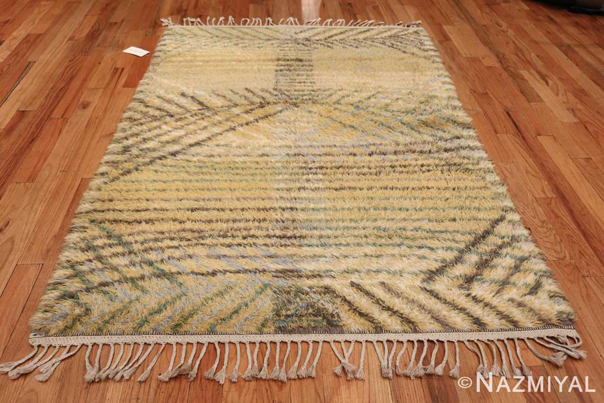 Vintage Swedish Rya Rug Marta Maas Fjatterstorm 46888 Whole Design Nazmiyal