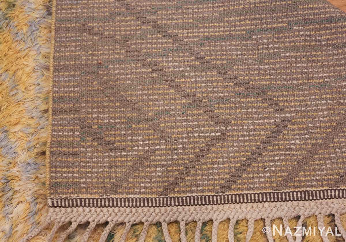Vintage Swedish Rya Rug Marta Maas Fjatterstorm 46888 Woven Knots Nazmiyal