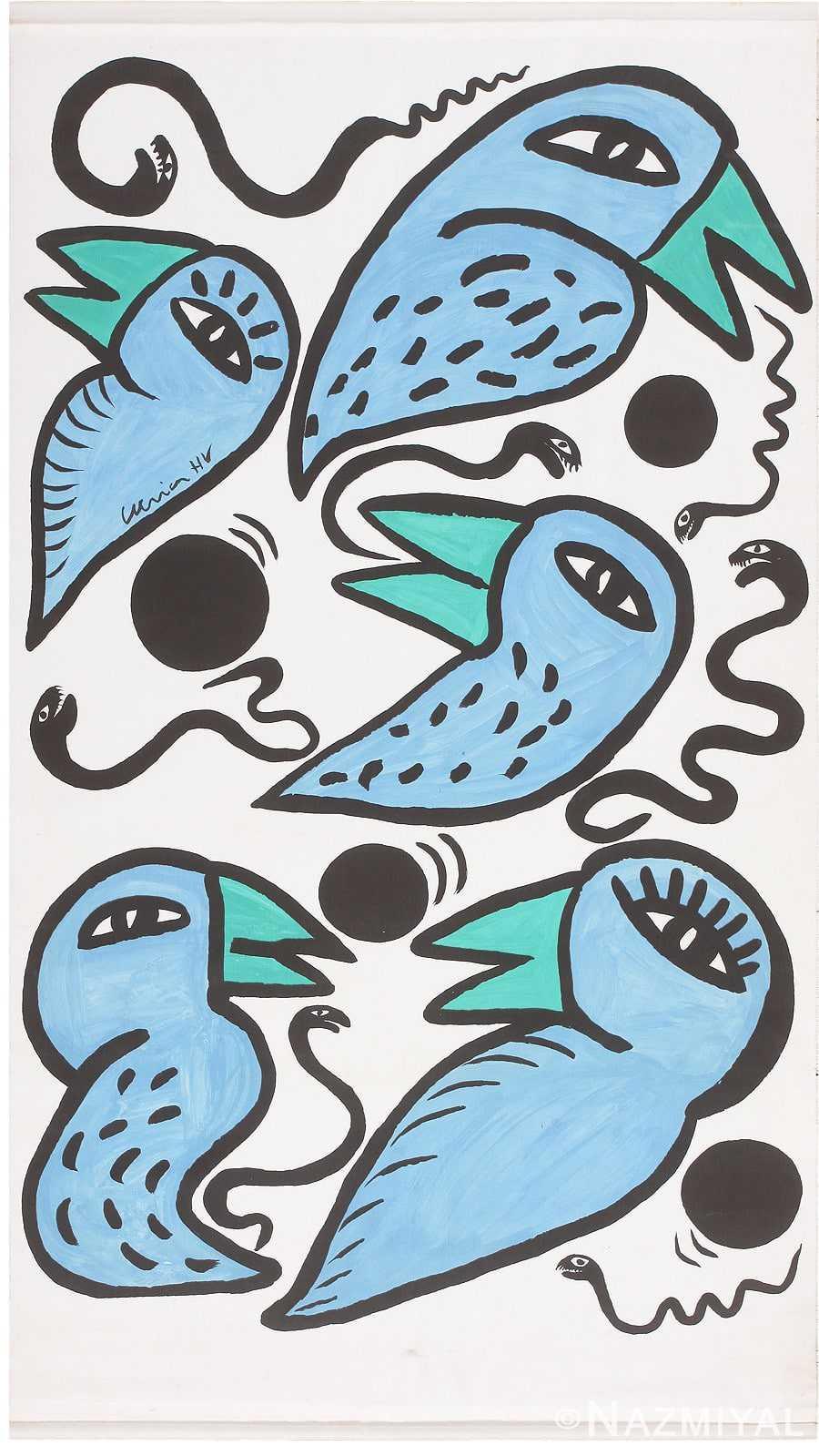 Vintage Swedish Tapestry 46828 Nazmiyal