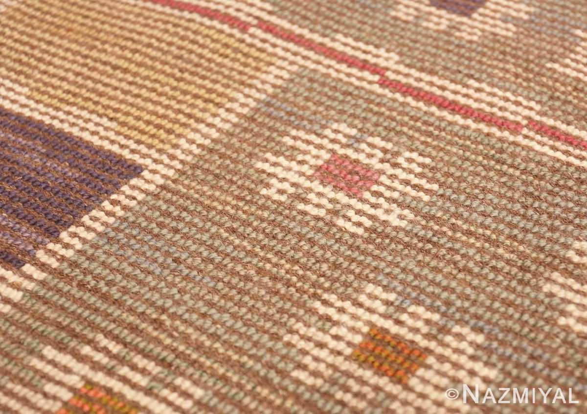 Weave detail Vintage pile Scandinavian rug by Marta Maas 46896 Nazmiyal