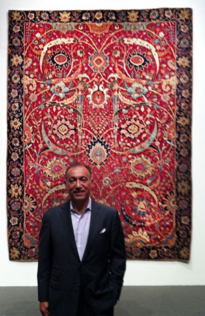 Jason Nazmiyal with Record Breaking Rug