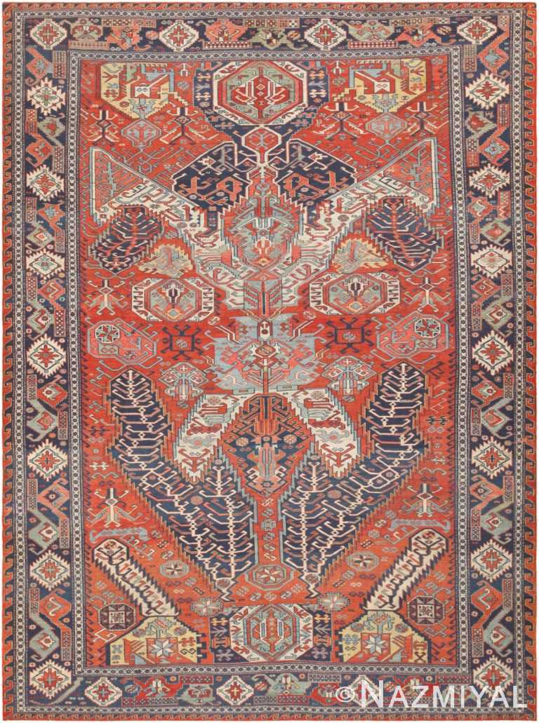 Antique Caucasian Soumak Carpet 46910 Nazmiyal