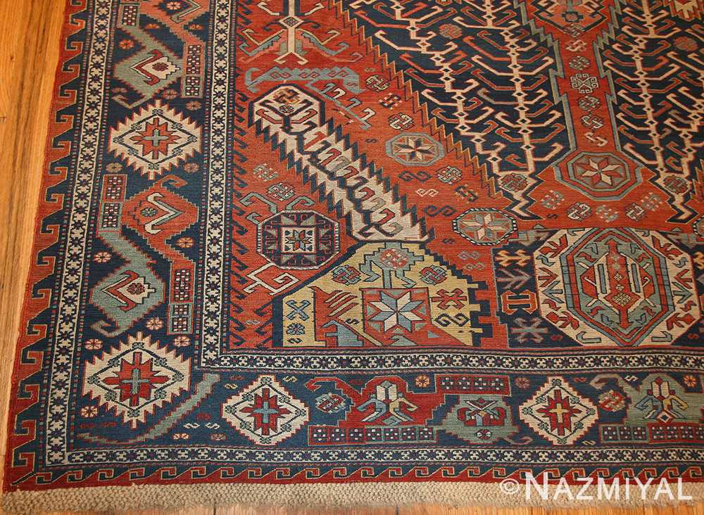 antique caucasian soumak rug 46910 border Nazmiyal