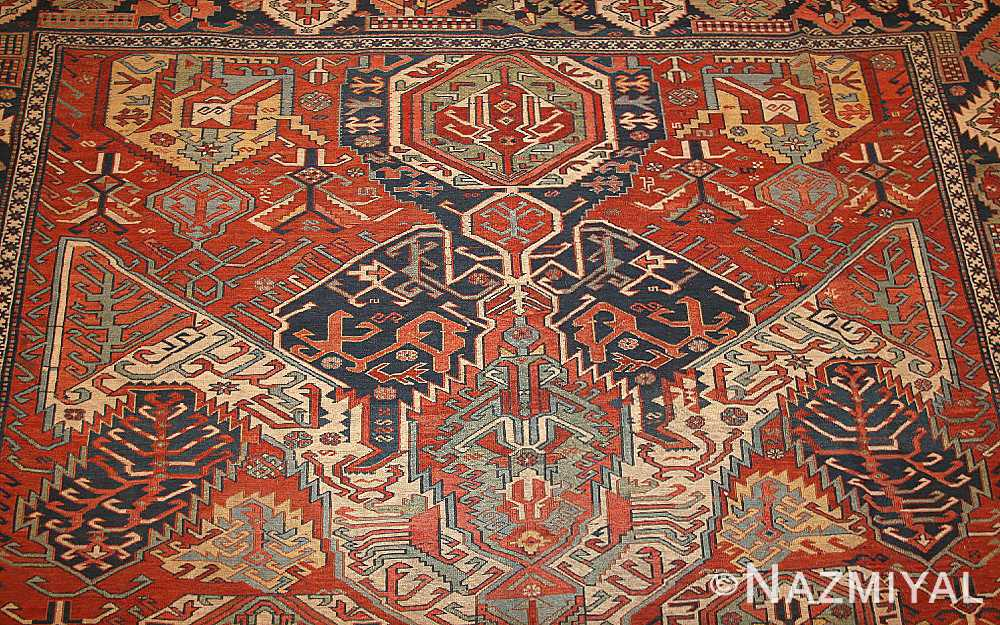 antique caucasian soumak rug 46910 field Nazmiyal