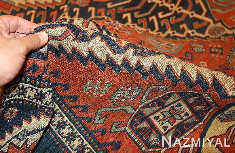 Antique Caucasian Soumak Pile Texture by Nazmiyal