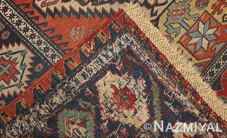 Antique Caucasian Soumak Weave by Nazmiyal