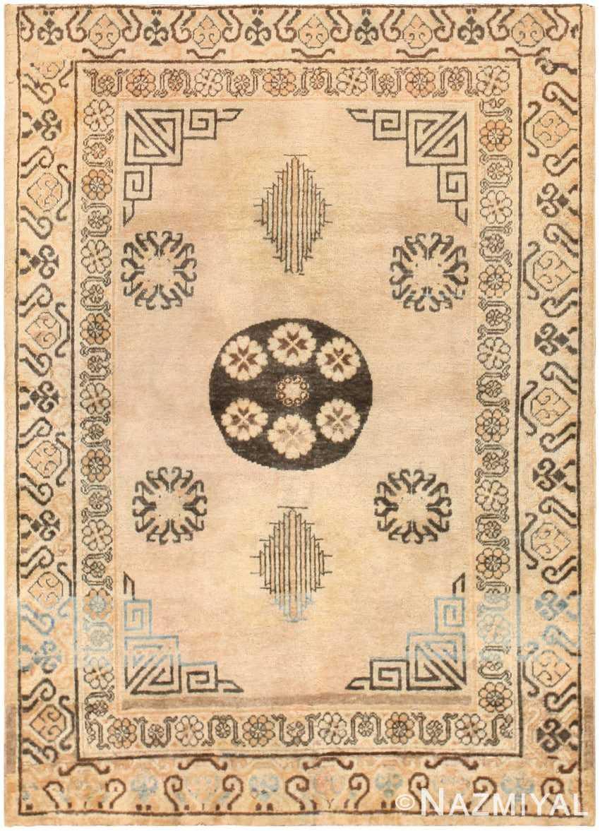 Antique Khotan Carpet from East Turkestan 46816 Nazmiyal