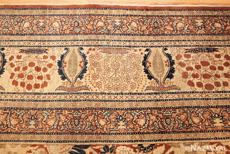antique persian haji jalili tabriz carpet 46807 border Nazmiyal