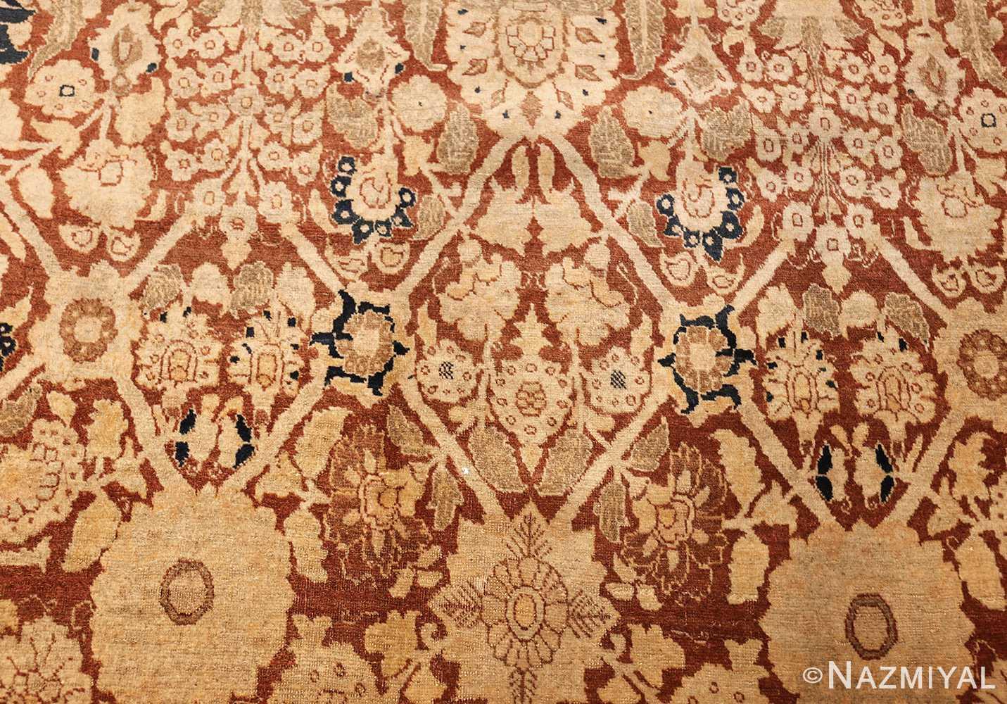 antique persian haji jalili tabriz carpet 46807 field Nazmiyal