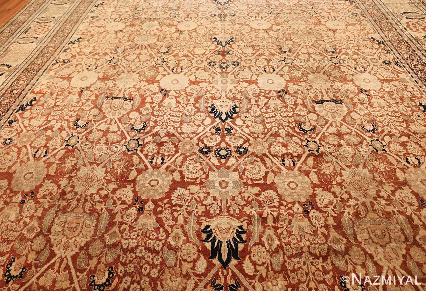 antique persian haji jalili tabriz carpet 46807 middle Nazmiyal
