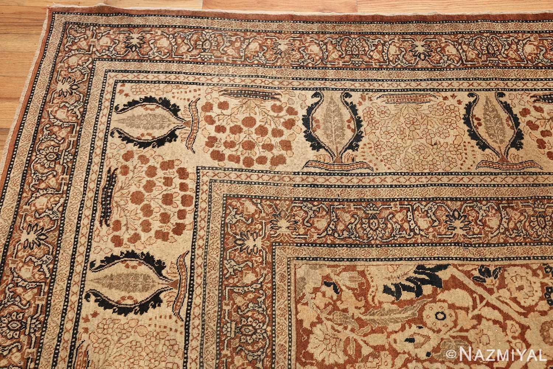 antique persian haji jalili tabriz carpet 46807 part Nazmiyal