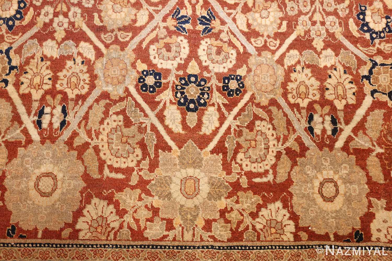 antique persian haji jalili tabriz carpet 46807 side Nazmiyal